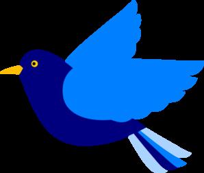 298x252 Blue Bird Left Png, Svg Clip Art For Web