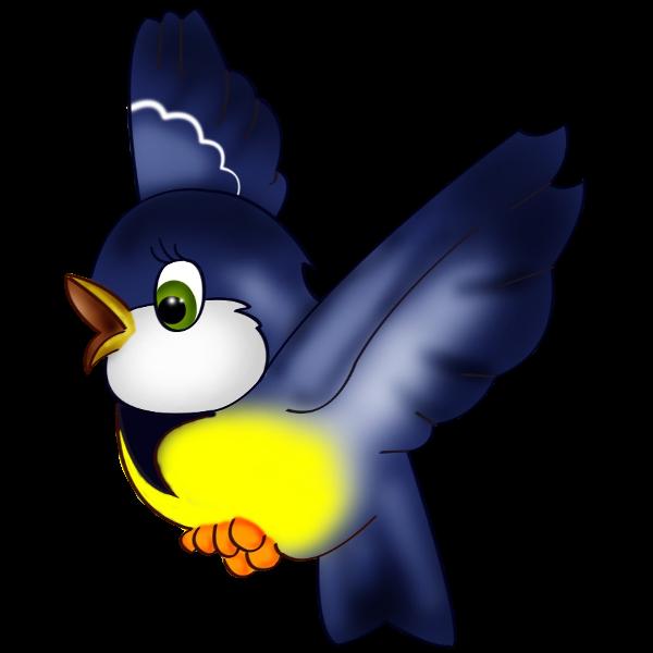 600x600 Blue Bird Clip Art