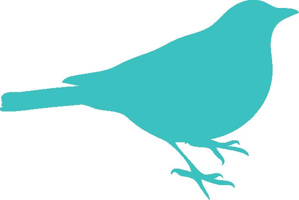 600x402 Pink Bird Silhouette Clip Art