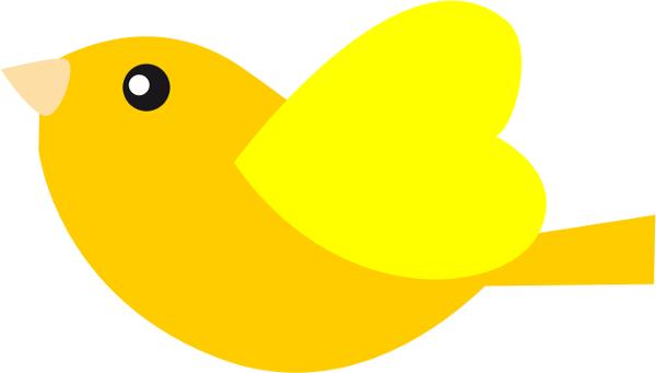 600x341 Clip Art Bird Yellow
