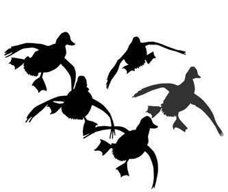 333x280 Hunting Dog Silhouette Clipart