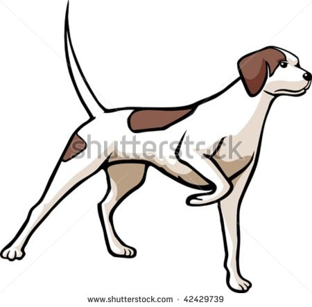 450x443 Hunting Dog Clipart