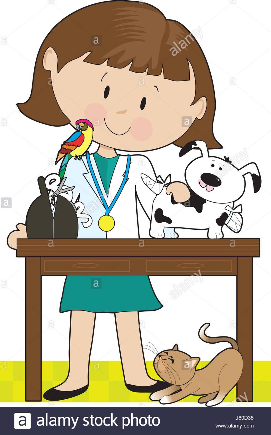 867x1390 Woman Art Pet Bird Dog Vet Pussycat Cat Domestic Cat Parrot Doctor