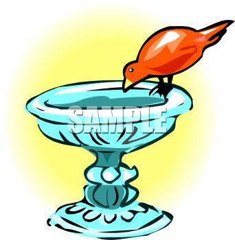 342x350 Bird House Clipart Birdbath
