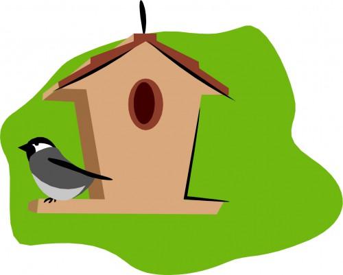 500x401 Bird House Clipart Building