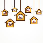 170x170 Clipart Of Funny Bird In Feeder K15515254