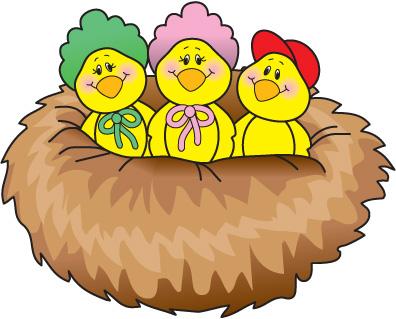 396x319 Cute Bird Nest Clipart