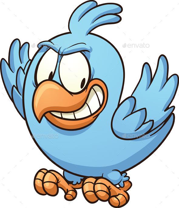 590x688 Evil Blue Bird Blue Bird, Font Logo And Fonts