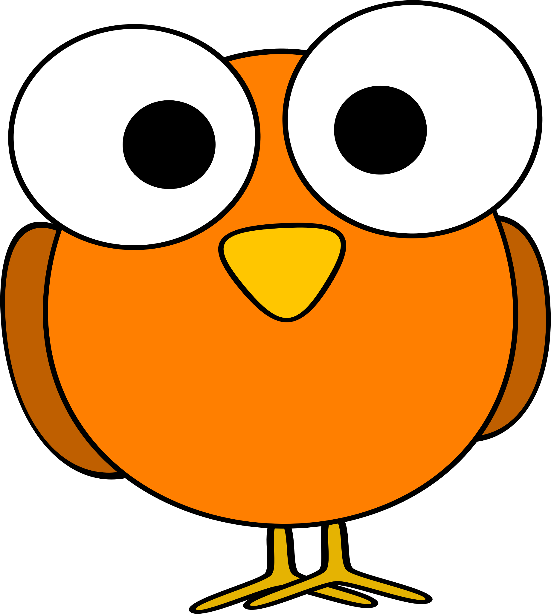 1843x2055 Bird Clipart Orange