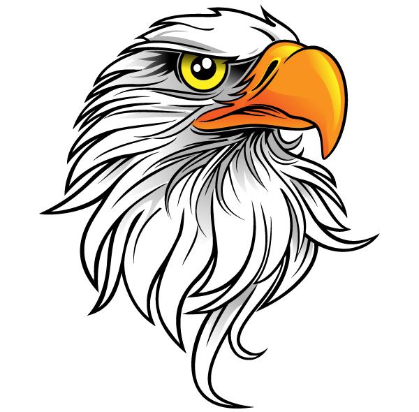 600x590 Free Eagle Head Clipart Image