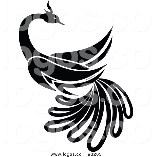 600x620 Royalty Free Vector Of A Black And White Bird Logo By Vector