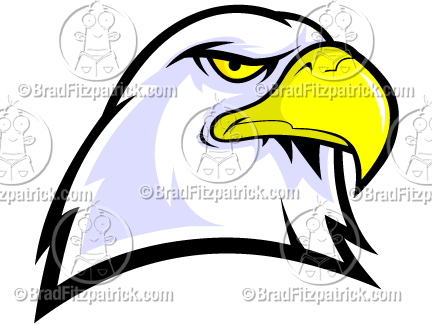 432x324 Bald Eagle Head Mascot