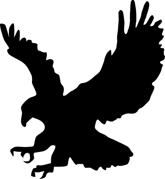 552x598 Eagle Hunting Clip Art