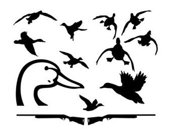 340x270 Unique Duck Silhouette Ideas Hunting Signs, Man