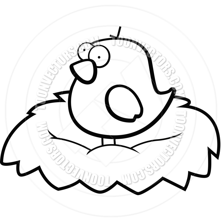 940x940 Bird Nest Black And White Clipart