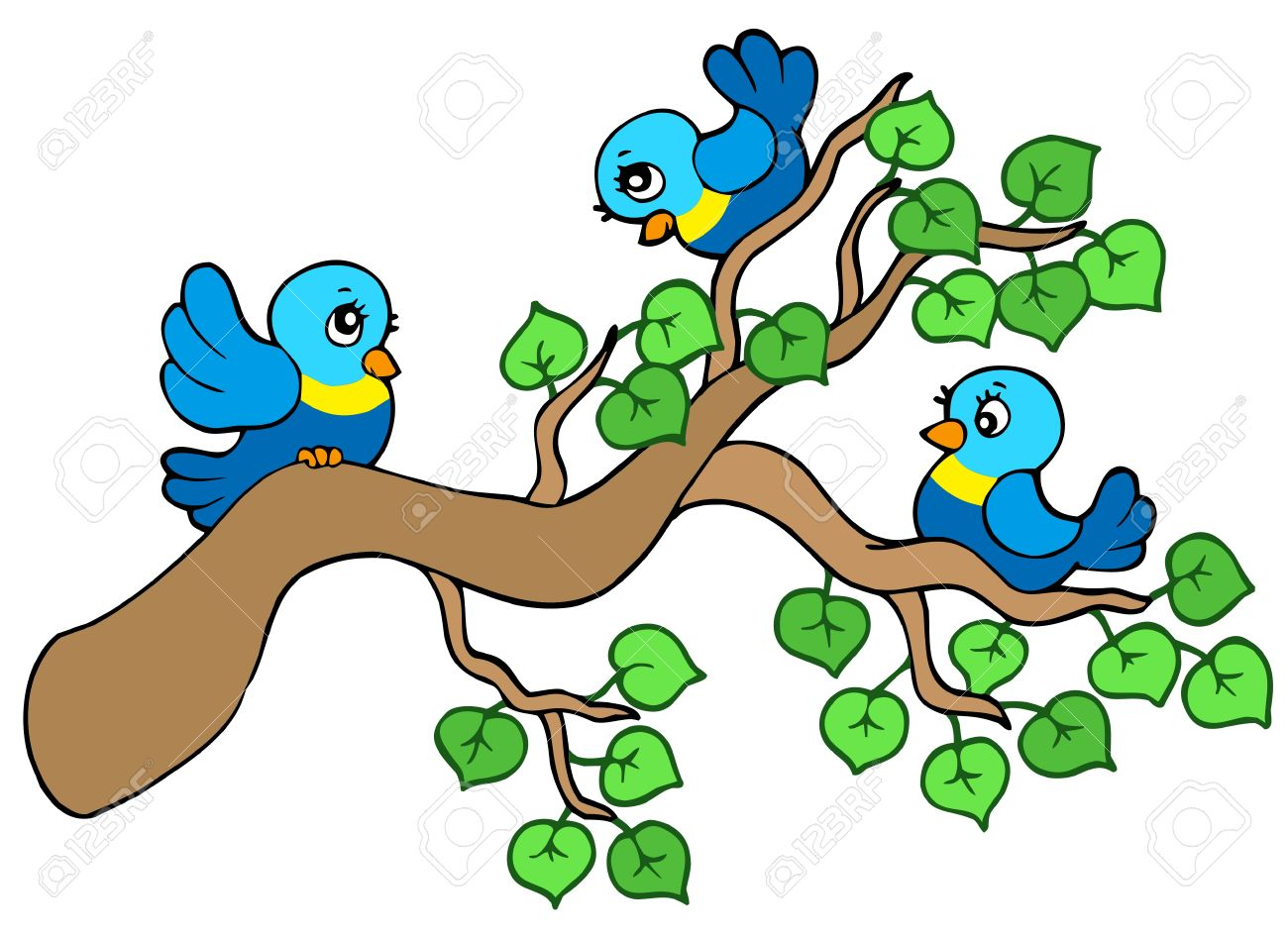 1300x946 Bird Clipart Branch