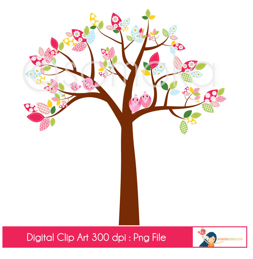828x849 Cute Bird Tree Clipart