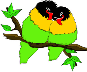 300x246 Free Free Lovebirds Clip Art Image 0515 1102 0614 5731 Animal