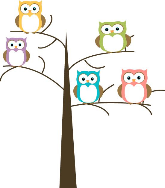 551x625 Owls In A Tree Clip Art