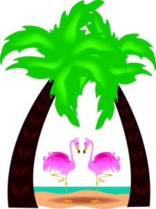 225x300 Pink Flamingos Clipart Image