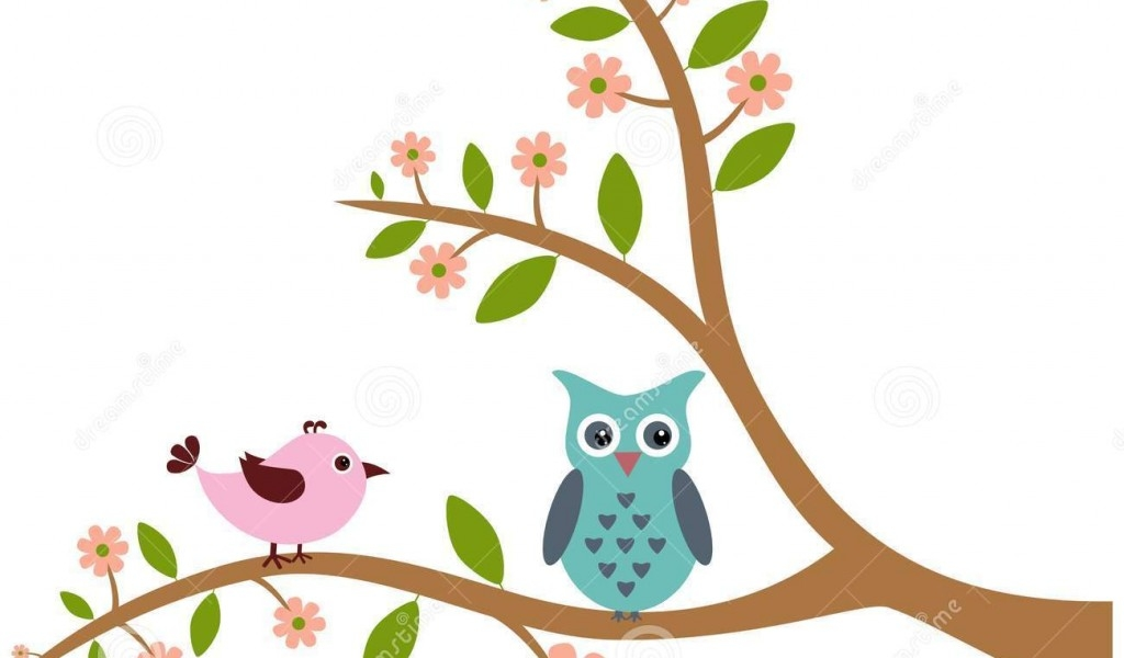1024x600 Tree Clipart Owls