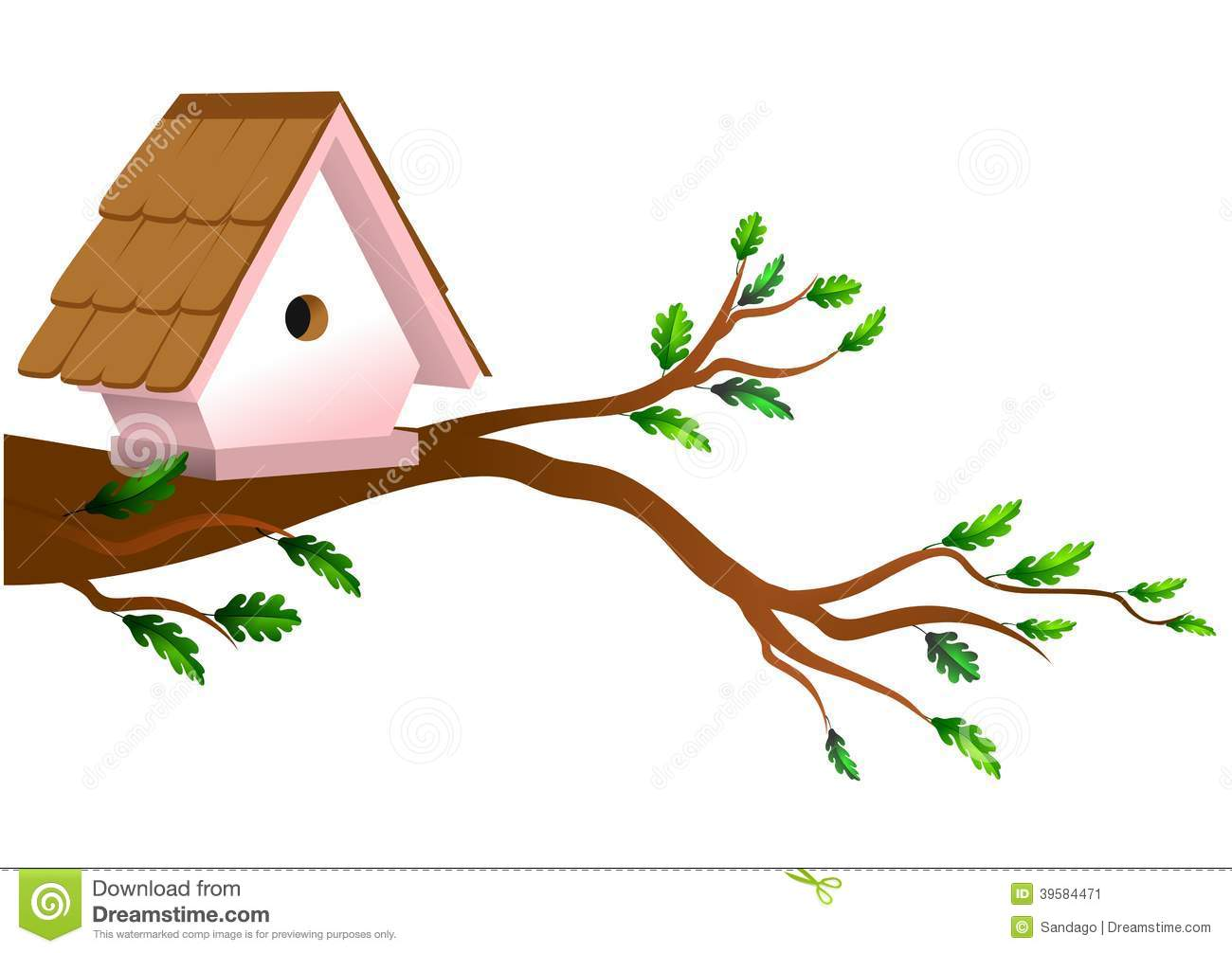 1300x1006 Bird House Clipart Freebie