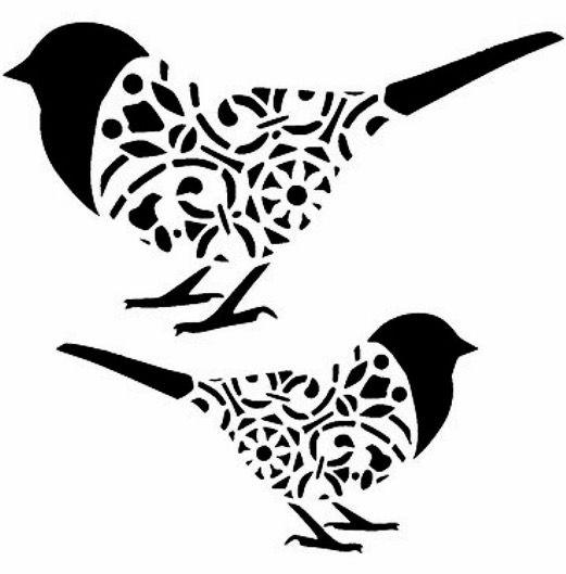 521x529 Best Bird Stencil Ideas Heart Stencil