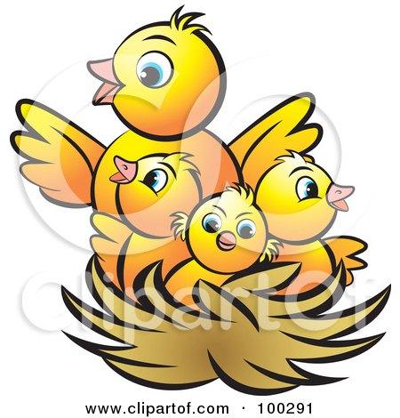 450x470 Bird's Nest Clipart Mother Bird