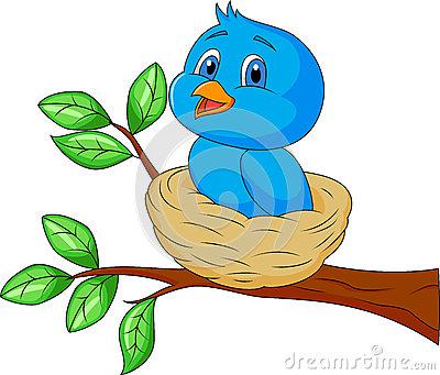 400x341 Cartoon Bird Nest Fun Stuff Cartoon Birds