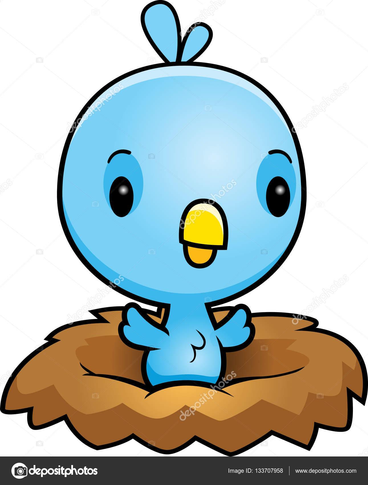 1291x1700 Cartoon Blue Bird Nest Stock Vector Cthoman