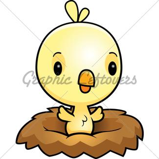 325x325 Cartoon Pink Bird Nest Gl Stock Images