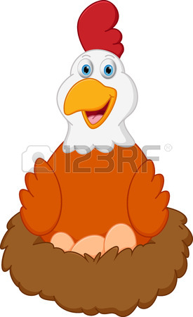 275x450 Vector Image Of An Bird Hatch Her Egg In Nest On White Background
