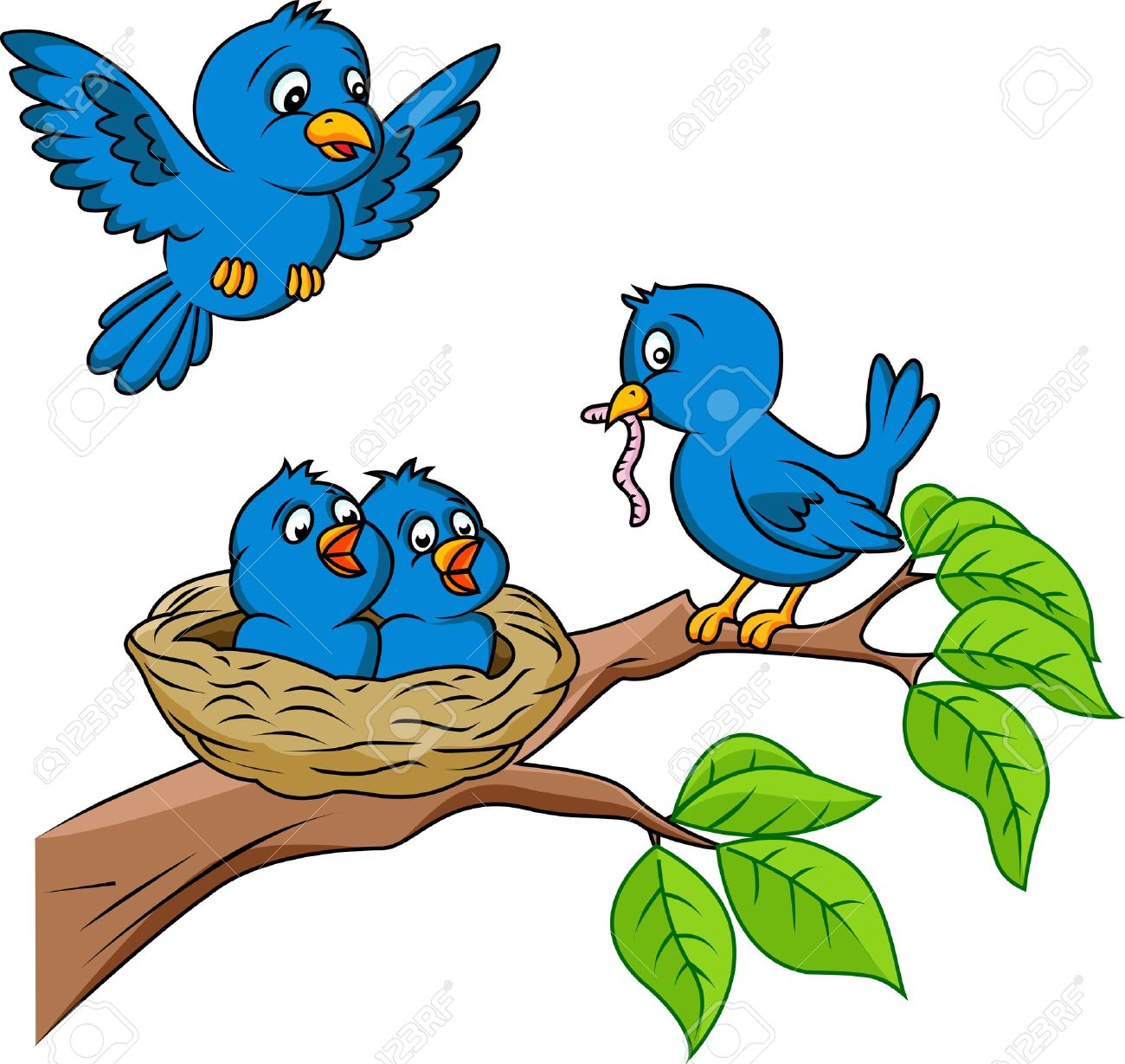 Bird Nest Cartoon | Free download on ClipArtMag
