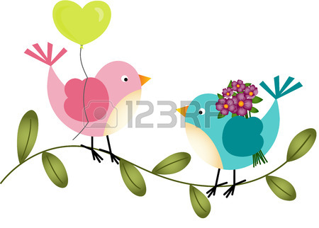 450x322 Adorable Couple Wedding Birds In A Cage Royalty Free Cliparts