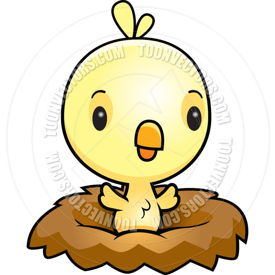 940x940 Cartoon Baby Bird Chick Nest By Cory Thoman Toon Vectors Eps