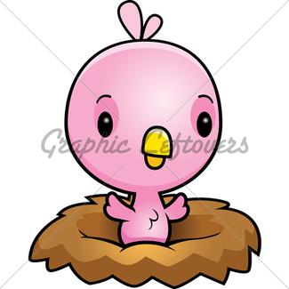 325x325 Cartoon Blue Bird Nest Gl Stock Images