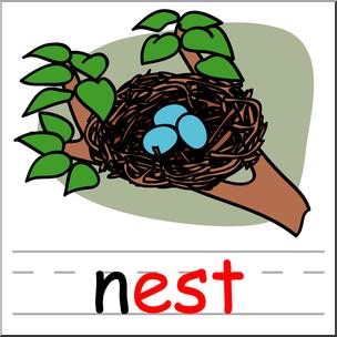 304x304 Clip Art Basic Words Est Phonics Nest Color I