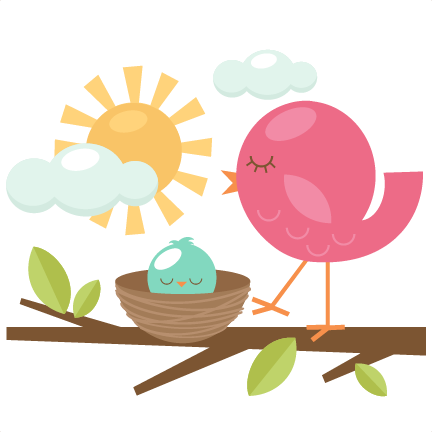 432x432 Free Clipart Of Birds In A Nest