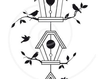 340x270 Birds Nest Clip Art Etsy