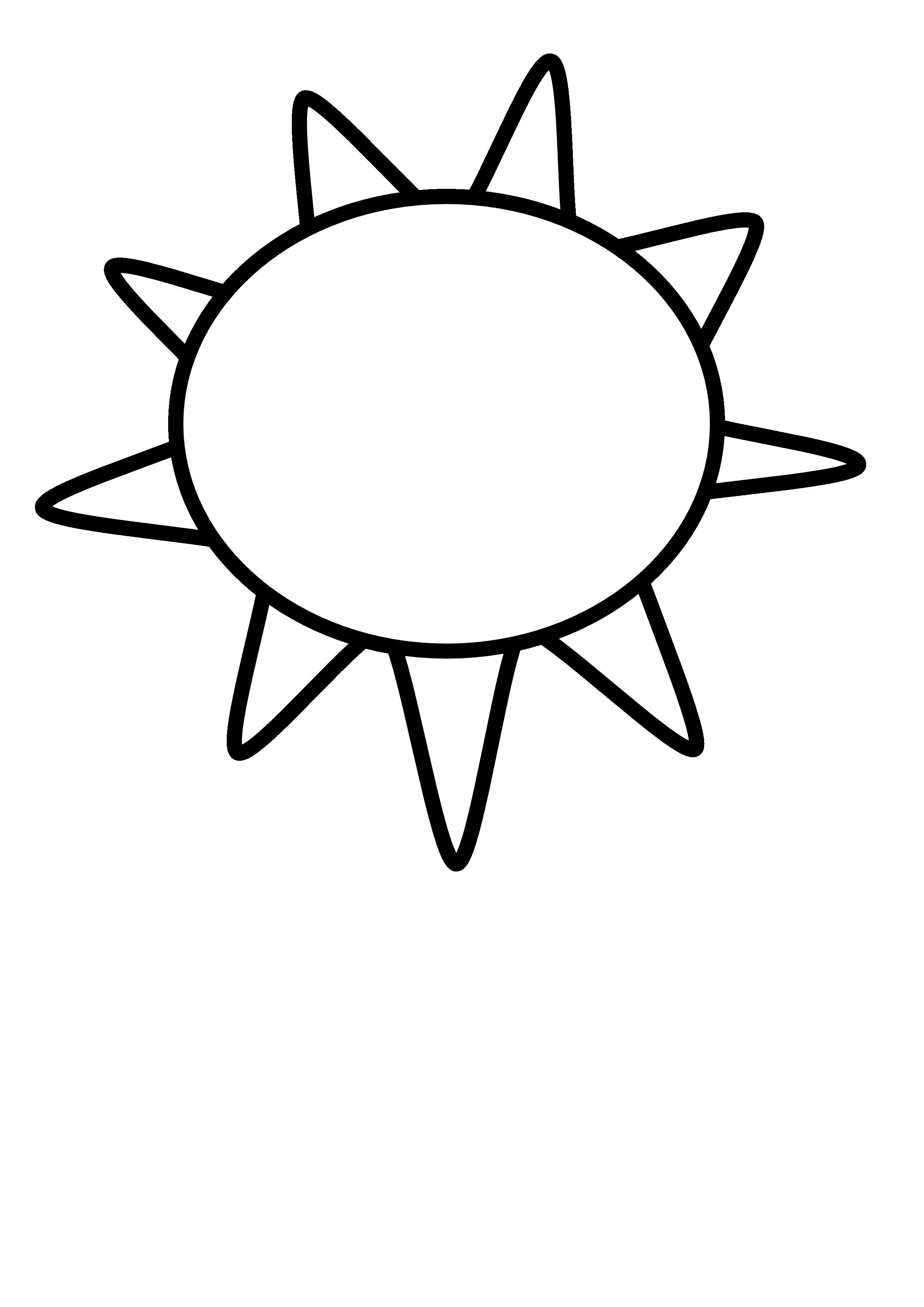 2555x3613 Sun Black And White Clipart