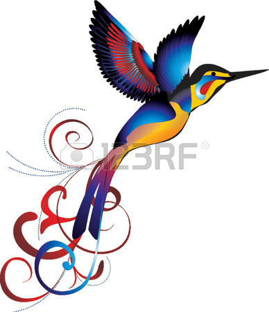 388x450 7,430 Bird Of Paradise Stock Illustrations, Cliparts And Royalty