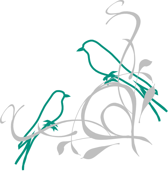 582x595 Birds On A Branch Clip Art