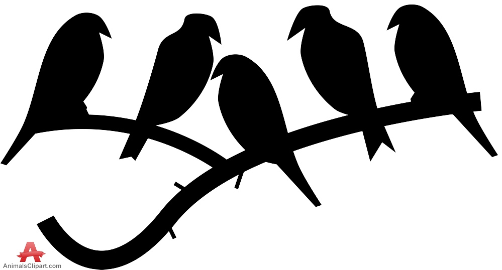 999x538 Birds On Branch Silhouette Free Clipart Design Download