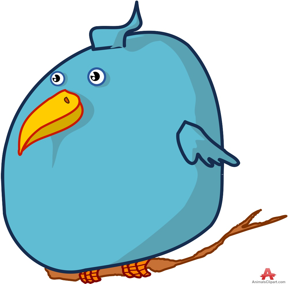 999x986 Fat Twitter Bird On Branch Free Clipart Design Download