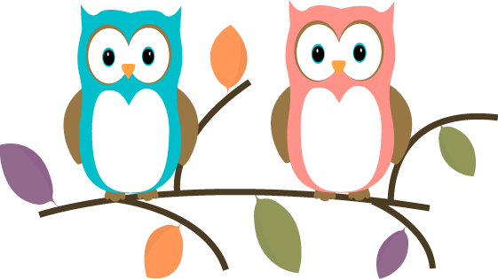 561x315 Two Owls Sitting On A Tree Branch Clip Art