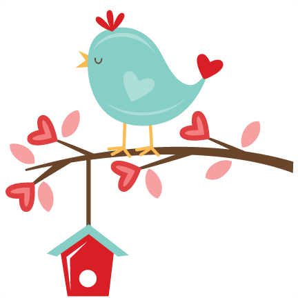 432x432 Valentine Bird On Branch Svg Scrapbook Cut File Cute Clipart Files
