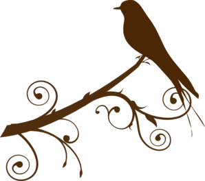 298x264 Bird On A Branch Clip Art