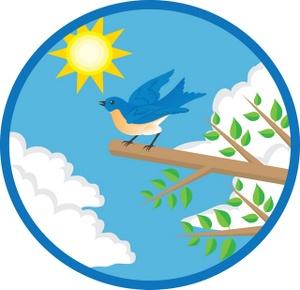 300x290 Blue Bird Clipart Image