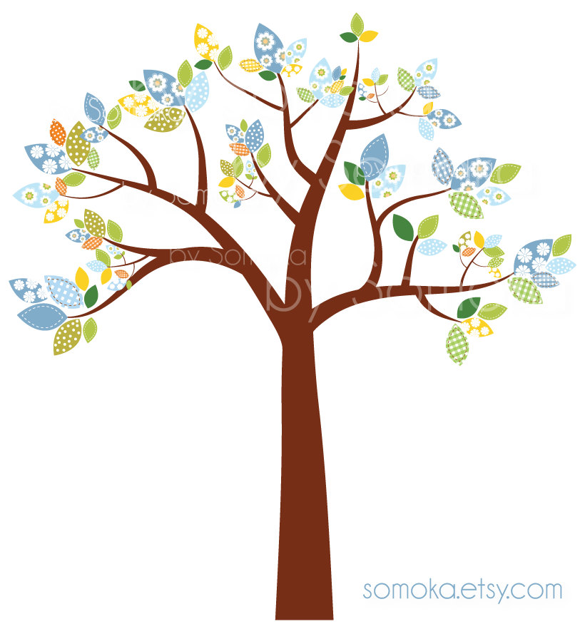 820x882 Nursery Baby Boy Cute Bird And Tree Clipart Set