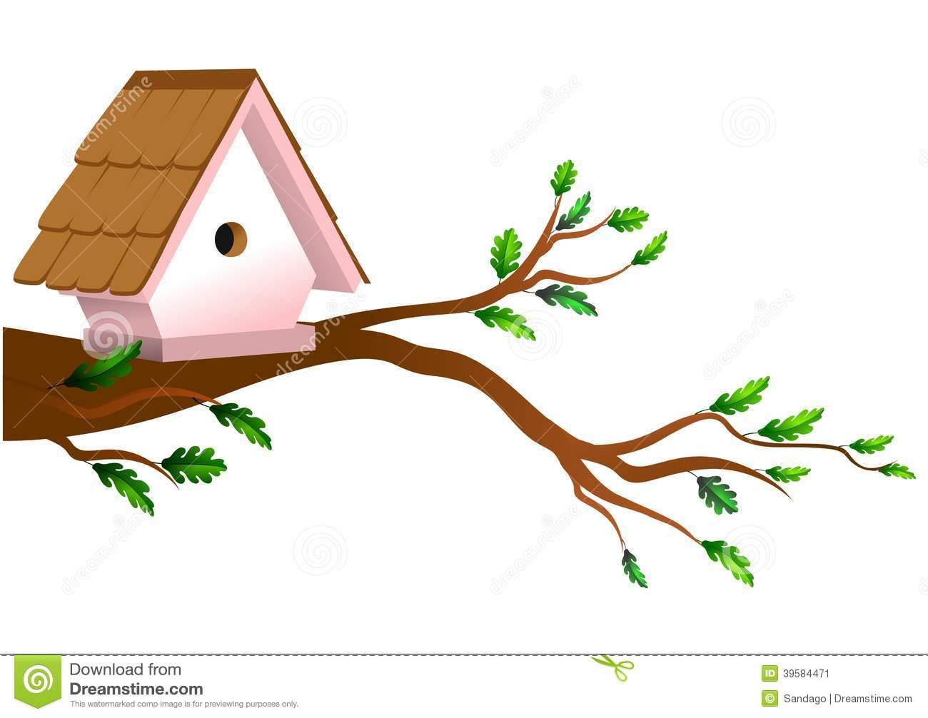 1300x1006 Bird House Clipart Tree Branch Clip Art